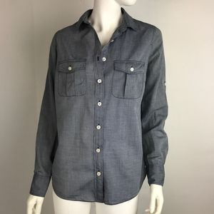 J. Crew Blue Chambray Shirt S